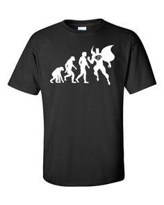 Planet Krypton theory of evolution, Superman themed Vinyl Pressed T-shirt
