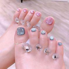 Toe Nail Color, Toe Nail Art, Nail Colors, Feet Nails, 3d Nails, Swag Nails, Fancy Nails Designs, Toe Nail Designs, Feet Nail Design
