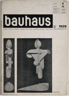 Joost Schmidt. Bauhaus: Vierteljahr-Zeitschrift für Gestaltung, October-December 1929, number 4, year 3. 1929