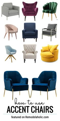 Learn How To Use Accent Chairs In Your Home Decor From The Bedroom To The Office To The Living Room, They Work In So Many Ways. Find The Accent Chairs And Tips At Remodelaholic.com #accentchairs #howtouseaccentchairs #accentchairsforthebedroom #bedroomideas #bedroomdecor