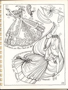Ballet Book 2 - Ventura page 23 Colouring Pages, Adult Coloring Pages, Coloring Books, Coloring Sheets, Paper Toys, Paper Crafts, Ballet Books, Paper Dolls Printable, Vintage Paper Dolls