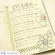 Great idea - an I'm done list