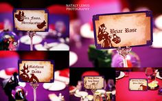 Disneyland Wedding table names