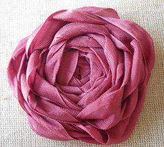 Scrapology: Seam Binding Ribbon Rose Tutorial