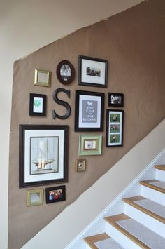 Stairwell Gallery | Emily Ann Interiors How To Hang Up Pictures With Easy  Steps. Photo