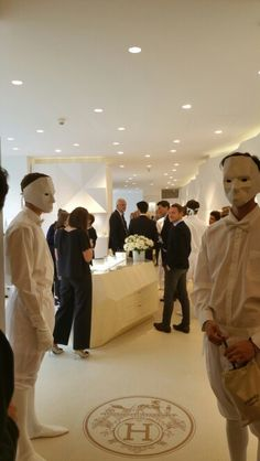 Inauguration de la boutique Hermès chez Franck et Fils