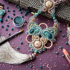 Soutache Pendant, Soutache Necklace, Jewelry Photography, Photography Ideas, Handmade Felt, Shibori, Beaded Embroidery, Bracelets, Necklaces