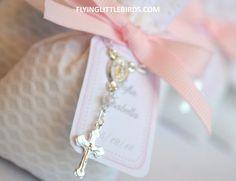 Baby Girl Baptism Favors  Christening Lavender Sachets Favor