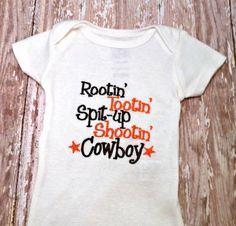 https://www.etsy.com/listing/120402846/baby-boy-onesie-baby-shower-gift-cowboy    Baby Boy Onesie  Baby Shower Gift  Cowboy by AllThatSassBoutique, $18.00