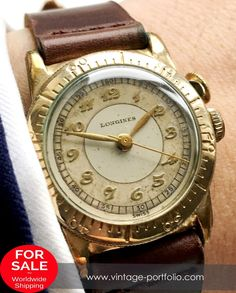 Rare Longines Weems Military Watch with Breguet Numbers – Handwinding Movement with small second – Gold Plated Case – 27 mm diameter (w/o crown) – Years of Construction: Retro Watches, Antique Watches, Fine Watches, Vintage Watches, Cool Watches, Wrist Watches, Longines Watch Men, Swiss Luxury Watches, Best Watches For Men