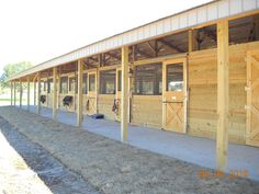 Shedrow Barn door grates are economical to build