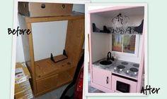 Children's play kitchen our of entertainment unit