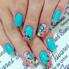 Fall Natural Nails Acrylic And Gel Polish Nail Designs Pretty fall natural nails - Fall Nails Cute Spring Nails, Spring Nail Art, Nail Designs Spring, Cute Nail Art, Cute Nails, Nail Polish Designs, Nail Art Designs, Gel Polish, Butterfly Nail Art