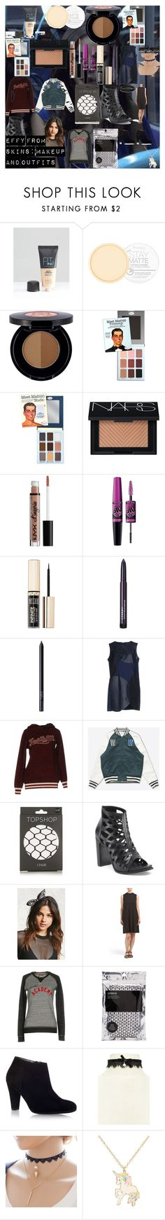 Effy from Skins: Makeup and Outfits by oroartye-1 on Polyvore featuring beauty, NARS Cosmetics, Anastasia Beverly Hills, Rimmel, NYX, Maybelline, Milani, By Terry, Forever 21 and claire's