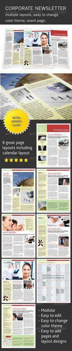 Snowball Newsletter Template  Newsletter Templates