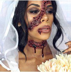 dead bride halloween makeup idea
