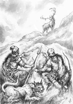 Glorantha: Odayla by Merlkir on DeviantArt Fantasy Sword, Fantasy Warrior, Character Inspiration, Character Design, Ages Of Man, Sword And Sorcery, Mythical Creatures, Celtic, Deviantart