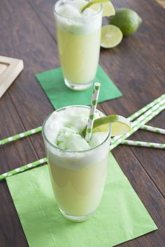 Lime Sherbet Floats #skipthehouseworkparty