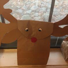 Reindeer brown bag Rudolph
