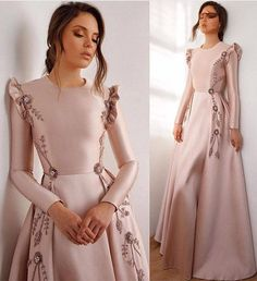 Latest & Trendy Dresses Styles for 2019 Girls Are you looking the Perfect outfit styles for yourself? just browse here and see the most popular ideas of dresses to make your look more beautiful. Muslim Evening Dresses, Hijab Evening Dress, Hijab Dress Party, Pink Evening Dress, Long Sleeve Evening Dresses, Party Gowns, Long Dress Party, Afternoon Dresses, Trendy Dresses