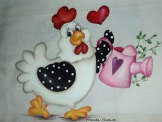 """Pano de prato """" galinha  jardineira """""""