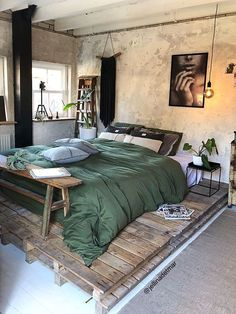 Best Of Bedroom Furniture Design Ideas Diy Projects. Home Decor 50 Creative Recycled Diy Projects Pallet Beds Master Bedroom Design, Home Bedroom, Modern Bedroom, Bedroom Furniture, Bedroom Ideas, Bedroom Designs, Warm Bedroom, Loft Style Bedroom, Moroccan Style Bedroom