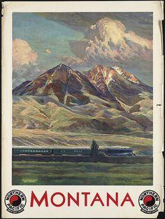 Vintage travel poster by Gustav Wilhelm Krollman