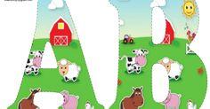 Farm Animal Party, Farm Animal Crafts, Farm Animal Birthday, Barnyard Party, Farm Birthday, Free Printable Banner Letters, Alfabeto Animal, Farm Unit, Barnyard Animals