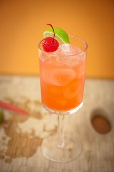 chilled cherry limeade with gin or vodka