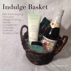 Indulge Basket $35 Contact me to get your today!!! Awelch8421@marykay.com  Www.marykay.com/awelch8421  Call or text (409)656-8771