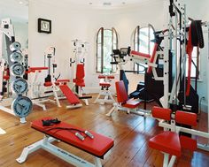 home workout room- someday.  It will happen