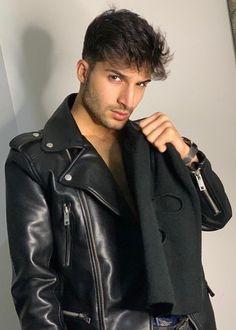 Leather Jacket, Mens Fashion, Jackets, Fictional Characters, Studded Leather Jacket, Moda Masculina, Down Jackets, Leather Jackets, Man Fashion