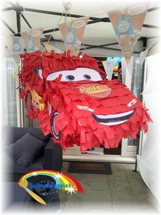 Cars pinata made by Schminkkoppies