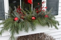 I want to make window boxes for my house so that I can do this next Christmas!!