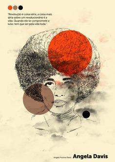Angela Davis, Black Panther Party, Salon Art, Smash The Patriarchy, Feminist Art, Pink Elephant, Life Inspiration, Black Is Beautiful, Black History