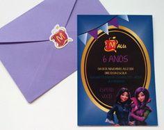 Convite Descendentes + envelope + ades.
