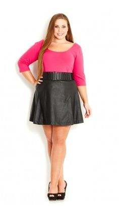 Plus Size Sexy Swing Skirt - City Chic - City Chic