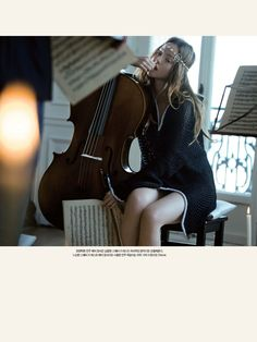 Harper's Bazaar Korea – March 2008 editorial: The cello lesson model: Devon Aoki photographer: Olaf Wipperfurth