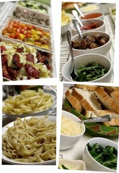 Pasta Bar Quick Dinner Ideas/Recipes
