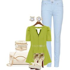 """""""Great Top with the jeans"""" by pacconylois on Polyvore"""