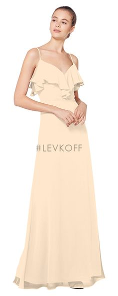 0976b42e10017 #LEVKOFF Bridesmaid Dress Style 7075 Bridesmaid Dress Styles, Ruffle Trim,  Peplum Dress,