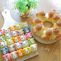 Fun Baking Recipes, Dessert Recipes, Festive Bread, Kawaii Cooking, Cute Bakery, Bento Recipes, Cute Desserts, Food Goals, Cafe Food