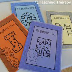 Στο αρχείο θα βρείτε τα εξώφυλλα για να φτιάξετε τα βιβλία των γραμμάτων. Υπάρχει ένα εξώφυλλο για κάθε βιβλίο μεγέθους Α5. Εικονογράφηση: Γαλήνη Γκαλά Χρώματα: ασπρόμαυρο Μορφή αρχείου: pdf Σελίδες: 12