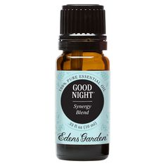 Good Night is sweet, floral and exotic and a calming blend composed of individual oils with known soothing properties to promote relaxation and restful sleep.