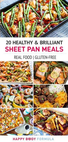 20 Healthy & Brilliant Sheet Pan Dinner Meals (Paleo, Gluten-Free, Real Food) These nourishing, paleo and real food one pan meals use simple ingredients for easy prep, easy clean-up and maximum flavour! Break out your sheet pan. Paleo Recipes, Healthy Dinner Recipes, Whole Food Recipes, Cooking Recipes, Free Recipes, Veggie Recipes, Easy Recipes, Pan Cooking, Cooking Ham
