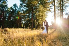 Flagstaff Wedding at the Forest Highlands Golf Club // Forest Wedding with perfect light