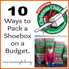 10 ways to pack am #occshoebox on a budget from #mummydeals