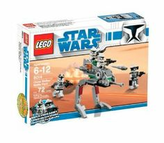 """LEGO Star Wars Clone Walker Battle Pack (8014) by LEGO. $29.49. Measures over 3.5"""" tall. Add #8015 Assassin Droids Battle Pack for even more fun. Build up your army with the Clone Walker, a tough 2-man vehicle with poseable legs and flick-firing missiles. Contains 72 pieces. Includes 2 Clone Troopers, Clone Gunner, Clone Commander and ARC trooper gear. From the Manufacturer                March into battle with the Clone Army. As the Clone Wars rage across the gala..."""