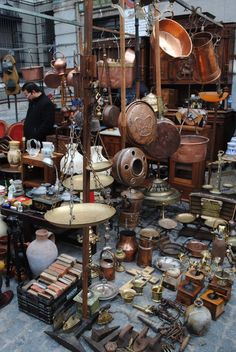 El Rastro flea market / madrid.  Its amazing to see, but you have to watch VERY closely for pickpockets.