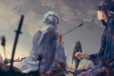 Gintama . Sakata Gintoki . Takasugi Shinsuke . Katsura Kotarou . Joui